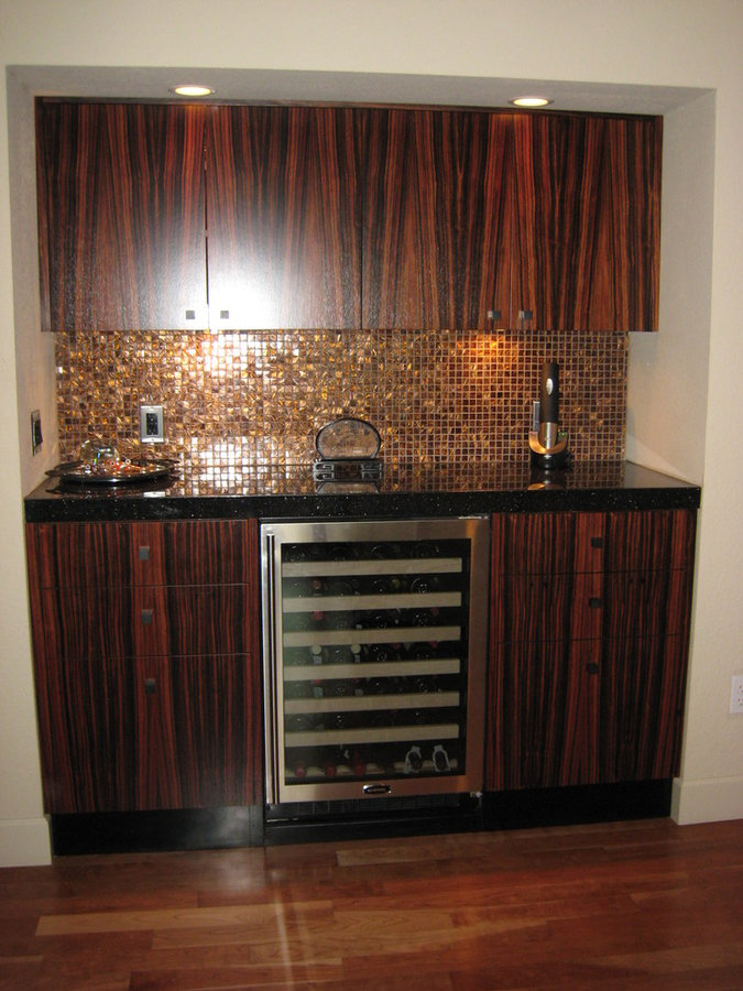 Madagascar Ebony Exotic Hardwood Home Bar