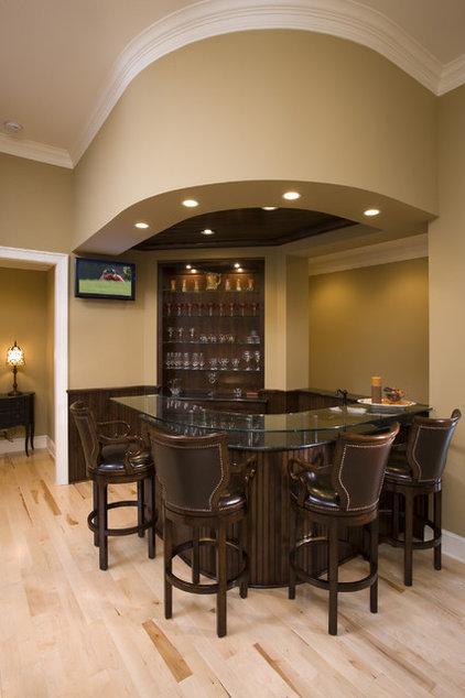 Traditional Home Bar by John Kraemer & Sons