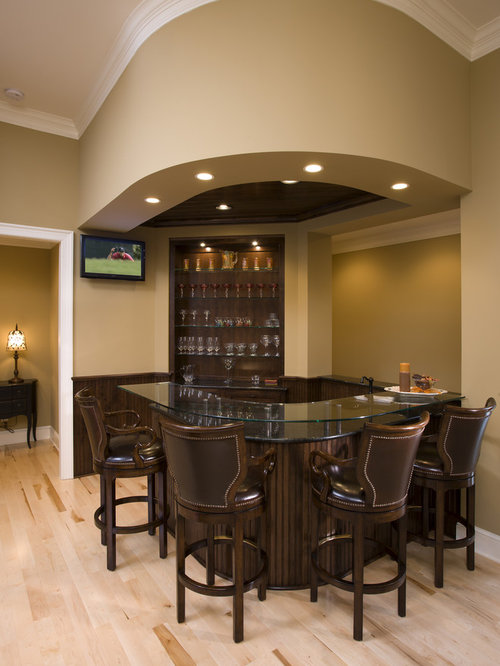 Small basement bar houzz for Home bar designs and ideas