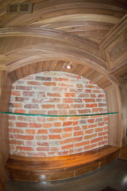 Rustic Wine Cellar by Creative Custom Woodworks