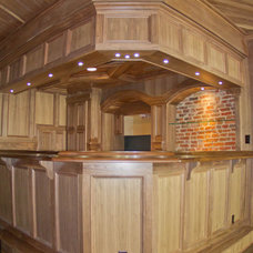 Rustic Home Bar by Creative Custom Woodworks