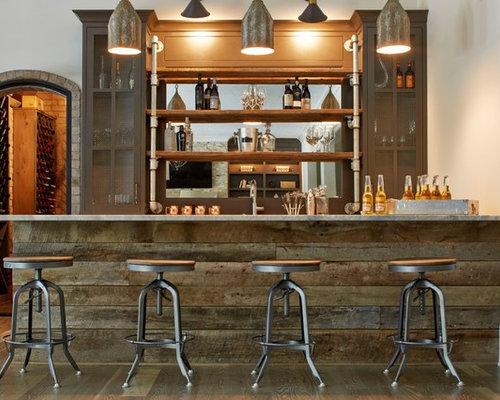 industrial usa home bar design ideas renovations amp photos