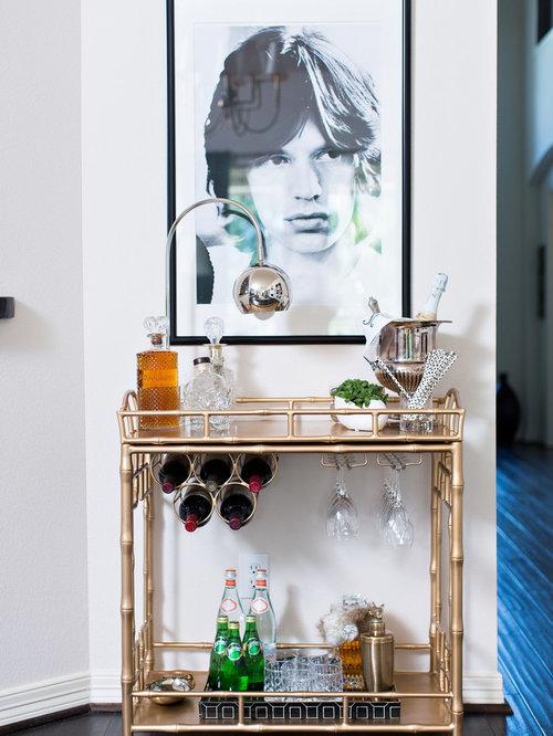 Foto e idee per arredare casa classica bar carts - Mini bar de salon ...