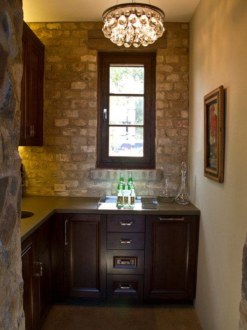 Rustikale hausbar mit mineralwerkstoff arbeitsplatte - Hausbar ideen ...