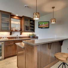 Traditional Home Bar by Wooddale Builders