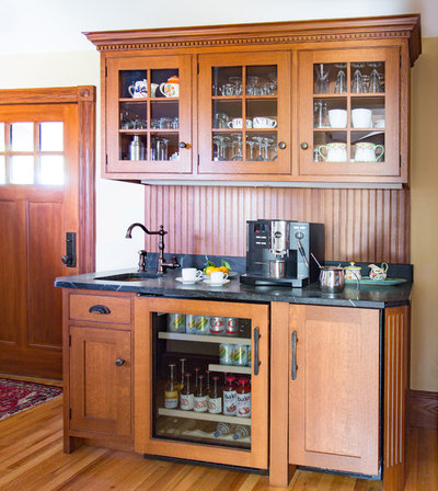 Superb Traditional Home Bar by Heartwood Kitchens