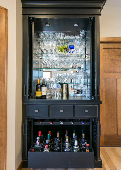 Traditional Home Bar by Rebecca Ryan Design