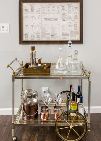 Transitional Home Bar by Design Shop Interiors