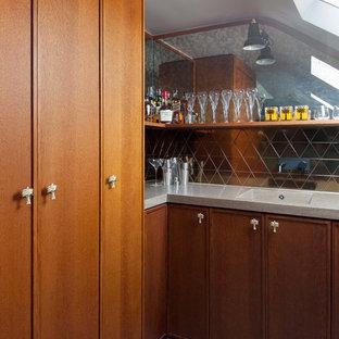 Design ideas for a retro home bar in London.