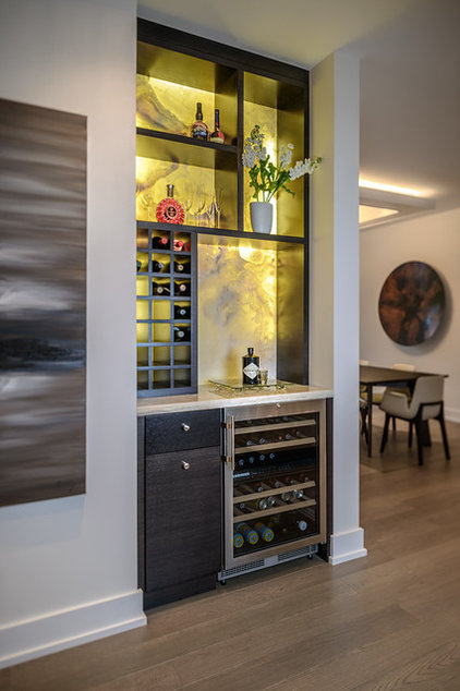 Contemporary Wine Cellar by Christopher Developments
