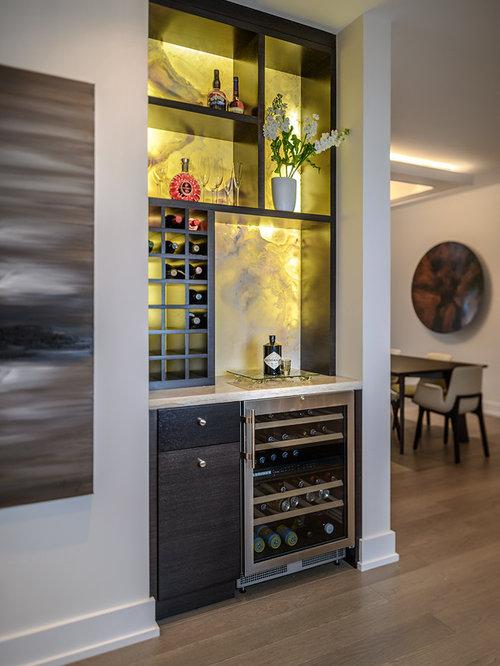 contemporary wine cellar idea in vancouver - Wine Bar Design For Home