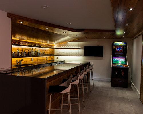 Foto e Idee per Angoli Bar - angolo bar moderno