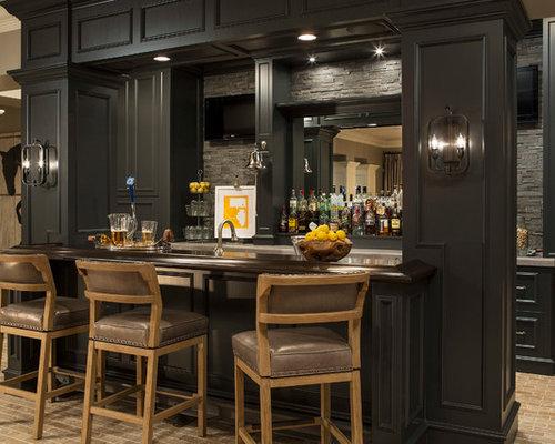 Small Basement Bar Houzz