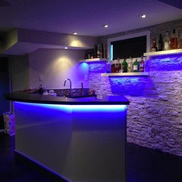 Mississauga Residence - Basement Bar