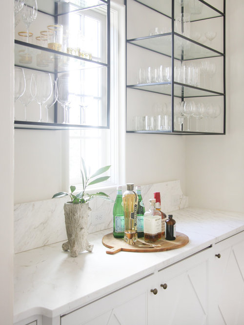 Wet Bar Glass Shelves Home Design Ideas, Pictures, Remodel and Decor