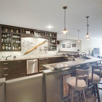 Modern Bar Design Alexandria, VA by Reico Kitchen & Bath