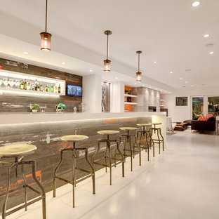 Inspiration For A Modern Home Bar Remodel In Calgary