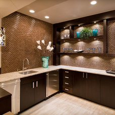 Contemporary Basement by Aneka Interiors Inc.
