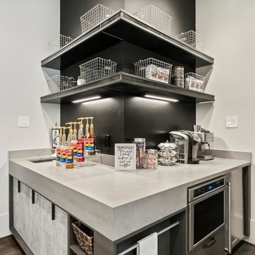 Modern Industrial Loft kitchen, bar & coffee bar