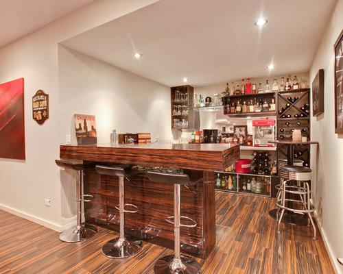 bar de salon moderne avec sol en stratifi photos et id es d co de bars de salon. Black Bedroom Furniture Sets. Home Design Ideas