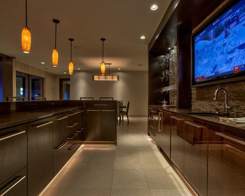 Contemporary Omaha Home Bar Design Ideas Remodels Photos