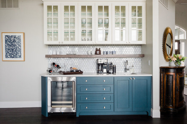 Coastal Home Bar by AsterHouse Design, LLC