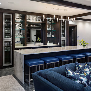 Modern Prairie Home Bar