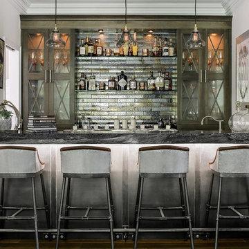 Modern Rustic Bar