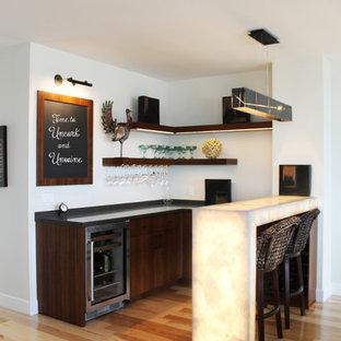 Modern Seaside Home Bar