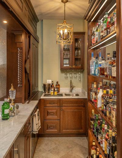 Victorian Home Bar by Copper Leaf Interior Design Studio