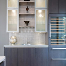 Contemporary Home Bar by Erin Paige Pitts Interiors