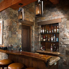 Rustic Home Bar by shannon callaghan interior design