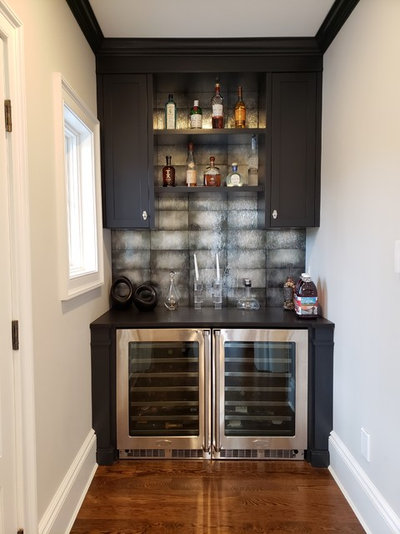 Transitional Home Bar by JMG Audio Video Inc