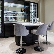 Contemporary Home Bar by Concept Interiors
