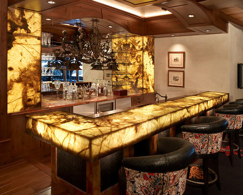 bar top lighting. large rustic galley dark wood floor seated home bar idea in denver with shaker cabinets top lighting