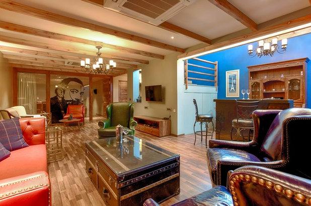 Contemporary Home Bar by KSUP STUDIO