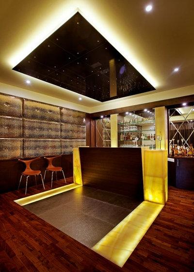 Contemporary Home Bar by ALEX JACOB ARCHITECT