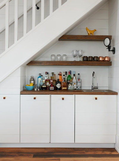 Coastal Home Bar by Jennifer Worts Design