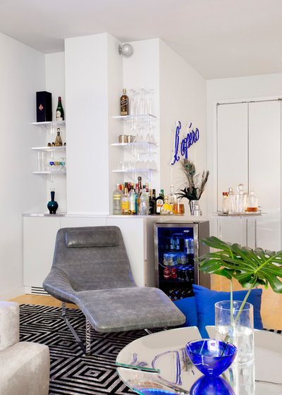 Contemporary Home Bar by Rikki Snyder