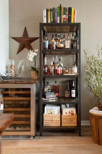 Transitional Home Bar by Margot Hartford Photography