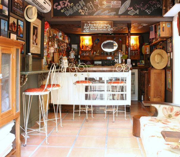 Eclectic Home Bar by Mina Brinkey