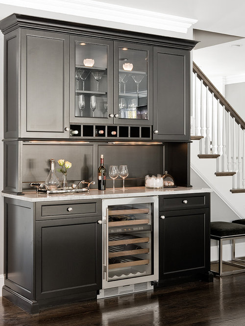 Built In Bar Cabinets Houzz