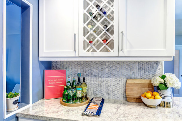 Contemporary Home Bar by Nicole White Designs Interiors LLC