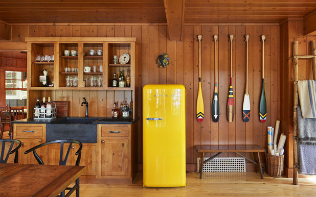 Rustic Home Bar by Charlie & Co. Design, Ltd