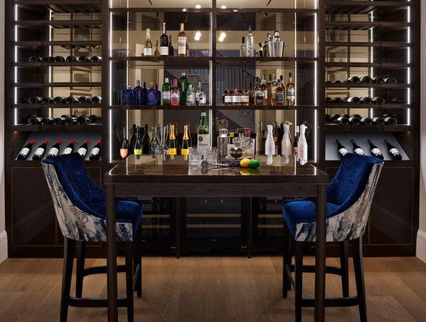 Contemporary Home Bar by Alexander James Interiors