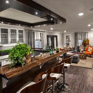 Moderne Hausbar Mit Bambusparkett Ideen Design Bilder Houzz