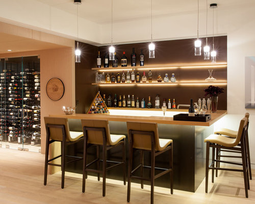 home bar lighting. contemporary seated home bar idea in los angeles lighting e