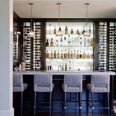 Transitional Home Bar by Jackson Paige Interiors, Inc.