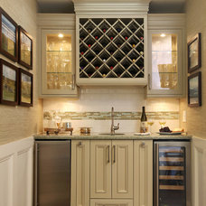 Traditional Home Bar by MET Interiors