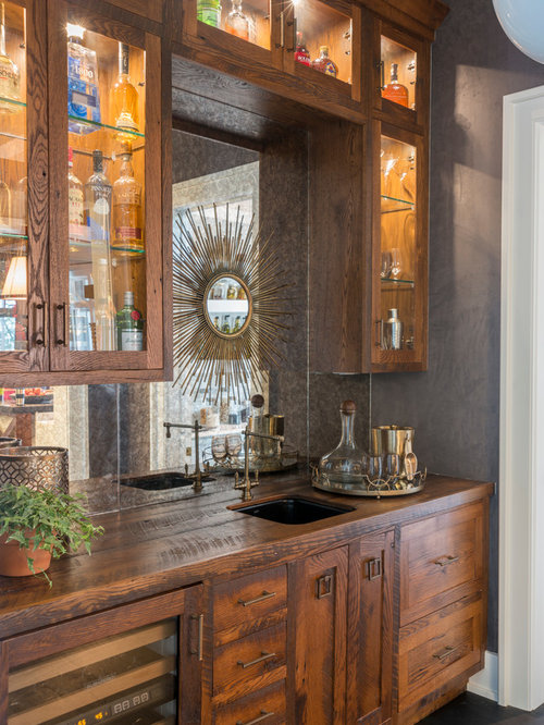 Inspiration For A Transitional Wet Bar Remodel In Other With An Undermount Sink Gl